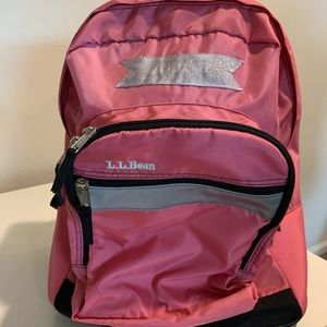 LL Bean Pink Rolling Backpack